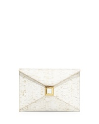 Kara Ross Prunella Cork Clutch Bag White