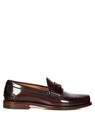 Gucci Jacob Leather Penny Loafers Burgundy