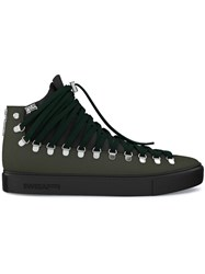 Swear Redchurch Hi Top Sneakers Calf Leather Nappa Leather Suede Rubber Green