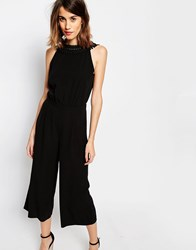Warehouse Criss Cross Jumpsuit Black