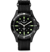 Timex Navi Harbor Stainless Steel And Nylon Webbing Watch Black