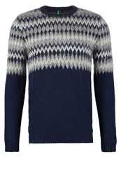 United Colors Of Benetton Jumper Navy Dark Blue
