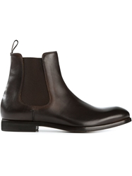 Paul Smith Contrast Elasticated Panels Chelsea Boots Brown