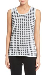 Ming Wang Women's Diamond Knit Tank