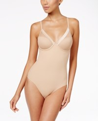Dkny Firm Control All In One Mesh Cup Bodysuit Dk2023 Skinny Dip