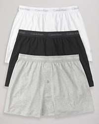 Calvin Klein Classic Knit Boxers Pack Of 3 Grey White Black