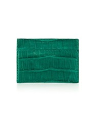 Santiago Gonzalez Crocodile Card Case Emerald Orange Grey Cobalt Black Brown