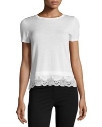 Theory Lilany Refine Georgette Top Ivory