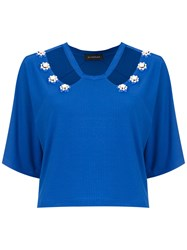 Olympiah Copa Cropped Top Blue