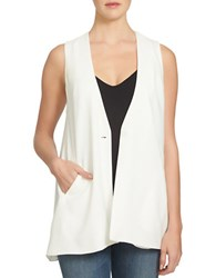 1.State Long One Buttoned Vest White