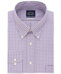 Eagle Men's Big And Tall Classic Fit Stretch Collar Non Iron Check Dress Shirt Purple