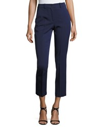 Michael Kors Cropped Stretch Wool Pants Navy