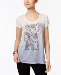 Styleandco. Style Co Striped Ombre T Shirt Created For Macy's Boho Elephant