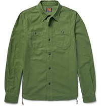 The Workers Club Cub Nep Cotton Twi Shirt Army Green