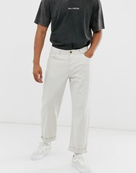 Brooklyn Supply Co. Co Wide Skate Fit Trousers In Stone