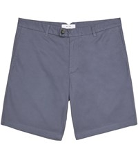 Reiss Wicker Tailored Shorts In Airforceblue