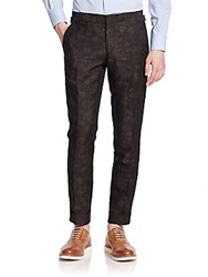 J. Lindeberg Botanic Jacquard Dress Pants Mud