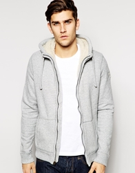 Abercrombie And Fitch Sherpa Lined Hoodie Grey