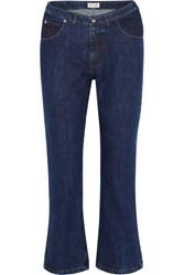 Paul And Joe Cropped High Rise Flared Jeans Indigo Usd