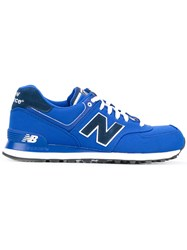 New Balance Lace Up Sneakers Men Nylon Synthetic Resin Rubber 43 Blue