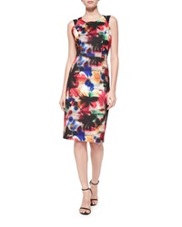 Milly Hayden Graffiti Print Sheath Dress Multi Colors