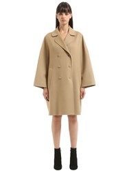 Salvatore Ferragamo Double Breasted Wool And Cashmere Coat