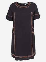 Fat Face Chekkie Embroidered Dress Phantom