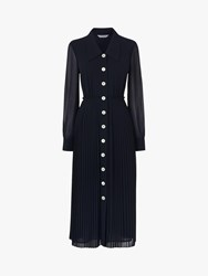Lk Bennett L.K.Bennett Fozette Pleated Shirt Dress Midnight