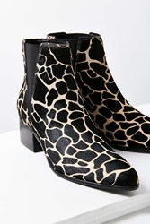 Urban Outfitters Giraffe Print Pony Hair Pola Chelsea Boot Black Multi