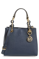 Michael Michael Kors 'Small Cynthia' Satchel Blue Navy