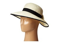 San Diego Hat Company Pbm1026 Sunbrim W Back Bow And Contrast Edging Ivory Caps White
