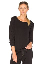 Beyond Yoga Cozy Fleece Bow Pullover Black