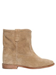 Isabel Marant Etoile 70Mm Crisi Suede Wedge Boots
