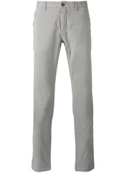 Closed Classic Trousers Men Cotton Spandex Elastane 31 Grey