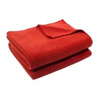 Zoeppritz Since 1828 Soft Fleece Blanket Rust