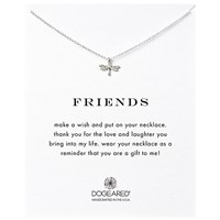 Dogeared Friendship Dragonfly Pendant Necklace Silver