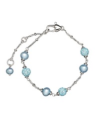 Honora Style 4Mm Blue Freshwater Pearl And Sterling Silver Bracelet