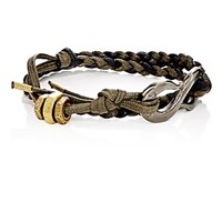 Giles And Brother Rope Wrap Bracelet With S Hook Black
