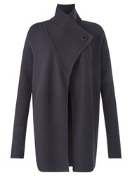 Jigsaw Ring Fastening Pique Cardigan Navy