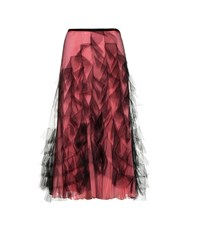 Valentino Tulle And Silk Skirt Pink