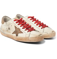 Golden Goose Superstar Distressed Leather Sneakers White