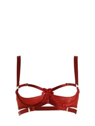 Bordelle Gia Elastic Satin Shelf Bra Red