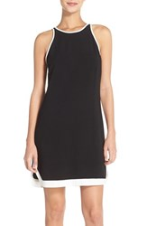 Women's Charles Henry Colorblock Tank Crepe Dress