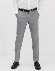 Esprit Slim Fit Suit Trouser In Mini Houndstooth Grey