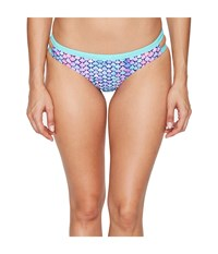 Speedo Double Band Bottom Multi Splash Women's Swimwear Purple
