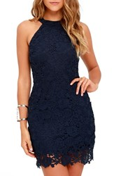 Lulus Women's Lace Halter Dress