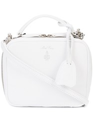 Mark Cross Box Tote Women Leather One Size White