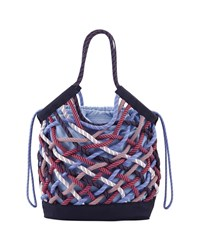 Tory Sport Woven Rope Tote Bag Ace Blue Camden