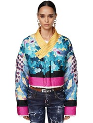 Dsquared Printed And Quilted Organza Jacket Multicolor