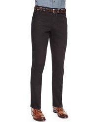 Brioni Stelvio Five Pocket Denim Jeans Black